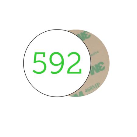CombiCraft Nummerplaatjes Aluminium Wit Ø30mm Rond ½mm dik met gekleurde bedrukking en tape