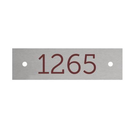 CombiCraft Nummerplaatjes Aluminium Zilver 70x20mm Rechthoek ½mm dik met bedrukking en 2 gaatjes
