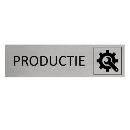 CombiCraft Aluminium Deurbordje Productie 165x45mm met tape