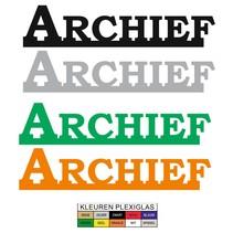 Archief bordje in 3D Plexiglas