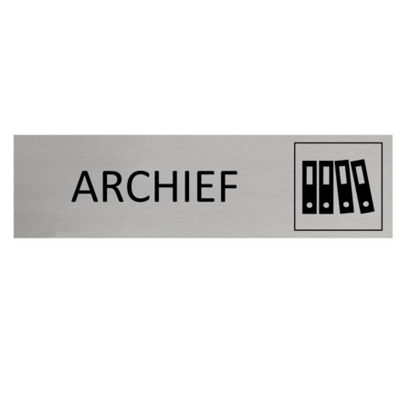 CombiCraft Aluminium Deurbordje Archief 165x45mm met tape
