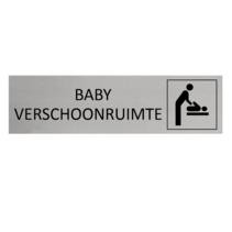 Aluminium Deurbordje Baby verschoonruimte