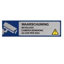 Aluminium Bordje Waarschuwing Camerabewaking