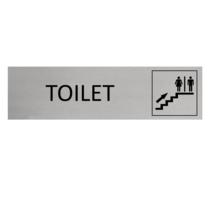 Aluminium Deurbordje Toiletten boven