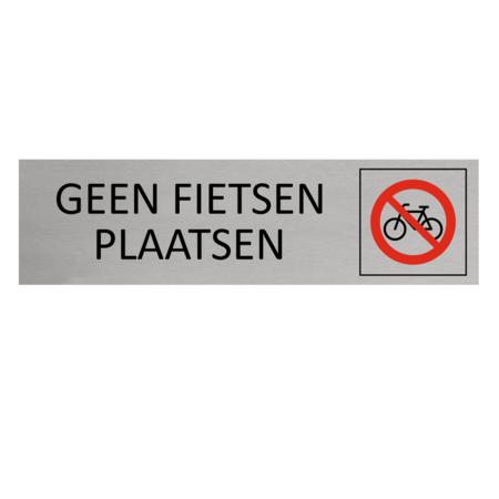 CombiCraft Aluminium Bordje geen fietsen plaatsen 165x45mm met tape