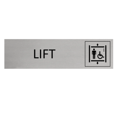 CombiCraft Aluminium Deurbordje Lift 165x45mm met tape
