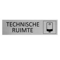 Aluminium Deurbordje Technische ruimte