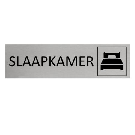 CombiCraft Aluminium Deurbordje Slaapkamer 165x45mm met tape