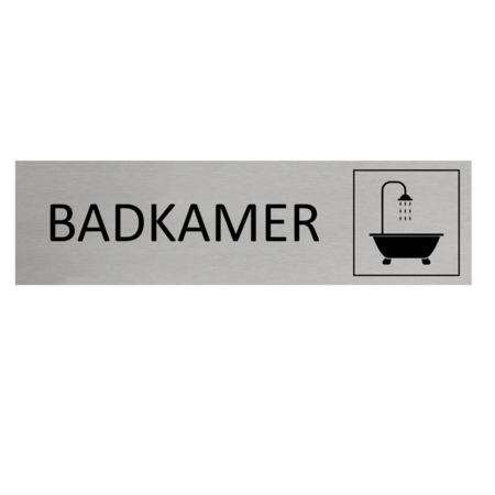 CombiCraft Aluminium Deurbordje Badkamer 165x45mm met tape