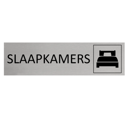 CombiCraft Aluminium Deurbordje Slaapkamers 165x45mm met tape