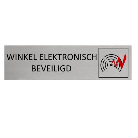 CombiCraft Aluminium Deurbordje Winkel Elektronisch Beveiligd 165x45mm met tape