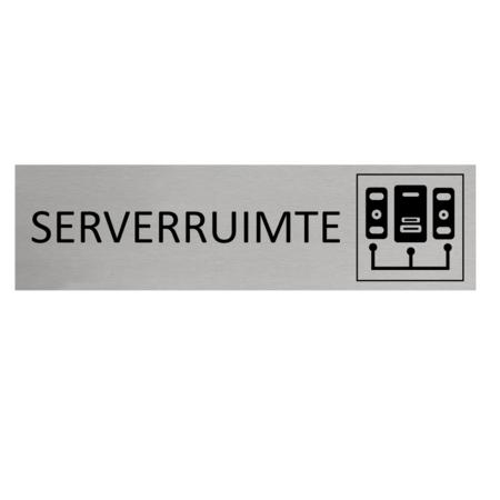 CombiCraft Aluminium Deurbordje Serverruimte 165x45mm met tape