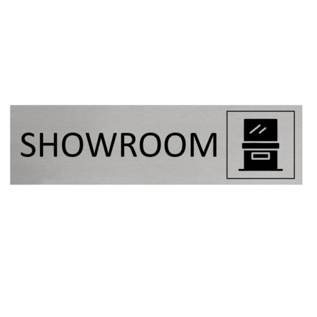 CombiCraft Aluminium Deurbordje Showroom 165x45mm met tape