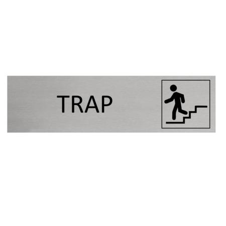 CombiCraft Aluminium Deurbordje Trap 165x45mm met tape