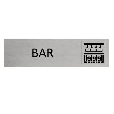 CombiCraft Aluminium Deurbordje Bar 165x45mm met tape
