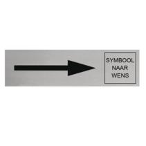 Aluminium Deurbordje Pijl Rechts en Symbool