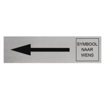 Aluminium Deurbordje Pijl Links en Symbool