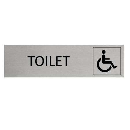 CombiCraft Aluminium Deurbordje toilet invalide 165x45mm met tape - Copy