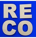 CombiCraft  vanaf 100  mm grootte in vier verschillende lettertypes 3D letters en cijfers van gesatineerd Messing