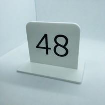 Plexiglas tafelnummers extra zwaar