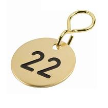Sleutellabels Messing met nummer