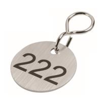 Sleutellabels Edelstaal met nummer