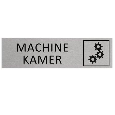 CombiCraft Aluminium Bordje Machinekamer 165x45mm met tape
