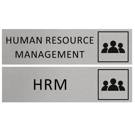 CombiCraft Aluminium Bordje HRM, Human Resource Management 165x45mm met tape