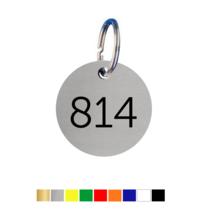 Sleutellabels rond met nummer