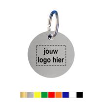 Sleutellabels rond met logo