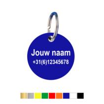 Sleutellabels met naam en telefoonnummer
