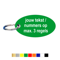 Sleutellabels Ovaal