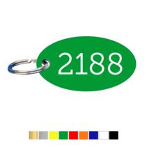 Sleutellabels Ovaal met nummer