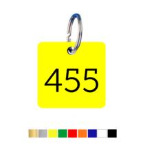 Sleutellabels Vierkant met nummer