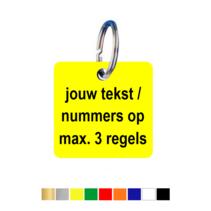 Sleutellabels Vierkant met tekst