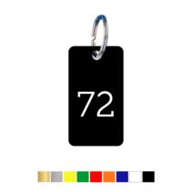 Sleutellabels Rechthoek met nummer