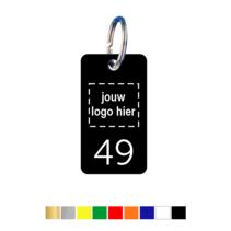 Sleutellabels Rechthoek met logo en nummer