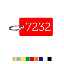 Sleutellabels Liggend Rechthoek met nummer