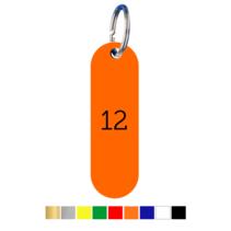 Sleutellabels Staande Labelovaal met nummer