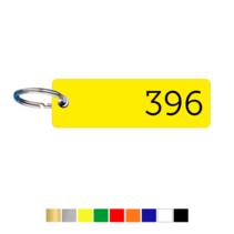 Sleutellabels Smal Rechthoek met nummer