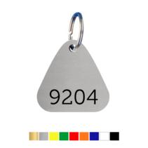 Sleutellabels Driehoek met nummer