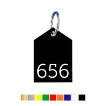 Sleutellabels Hoekig huismodel met nummer