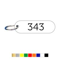 Sleutellabels Liggend Labelovaal met nummer