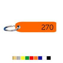 Labelvorm liggend met nummer