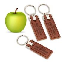Veganistische  Apple Tag sleutelhanger  met jouw logo en tekst
