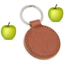 Veganistische  ronde Apple Tag sleutelhanger  met jouw logo en tekst