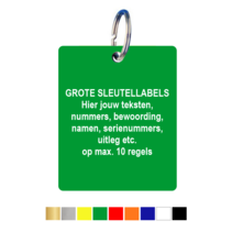 Sleutellabels Extra Groot