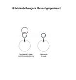 CombiCraft Big Bumerang Hotelsleutelhanger 30x100 mm met tekst gravering