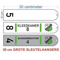 XXXL 30cm Kleedkamer Sleutelhanger Aluminium Combimateriaal