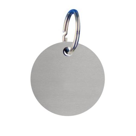 CombiCraft Blanco Sleutellabels Aluminium Zilver Rond